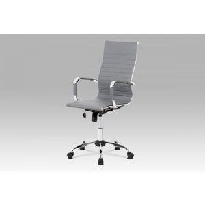 Kancelářská židle KA-V305 ekokůže / chrom Autronic Šedá