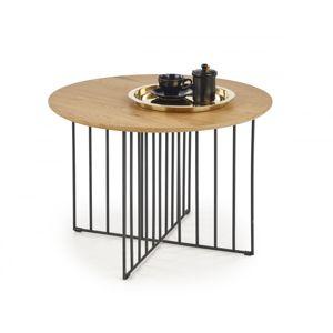 Konferenčný stolek ZARA dub zlatý / černá Halmar