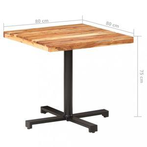 Bistro stůl čtvercový hnědá / černá Dekorhome 80x80x75 cm