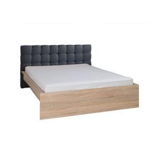 Manželská postel MEXIM dub sonoma / tmavě šedá Tempo Kondela 180 x 200 cm