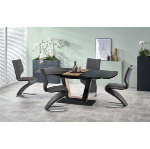 Rozkládací jídelní stůl FARREL 160/200 cm černá / ořech Halmar