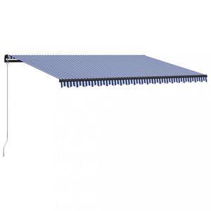 Ručně zatahovací markýza 500x300 cm Dekorhome Modrá