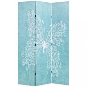 Paraván motýl modrá / bílá Dekorhome 3