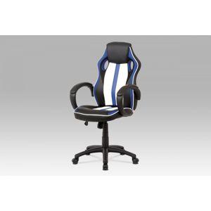 Kancelářská židle KA-V505 BLUE modrá / černá / bílá Autronic