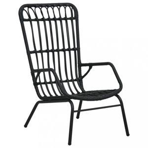 Zahradní židle polyratan Dekorhome Černá