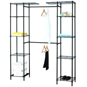 Úložný systém do šatní skříně GELBAN černá Tempo Kondela