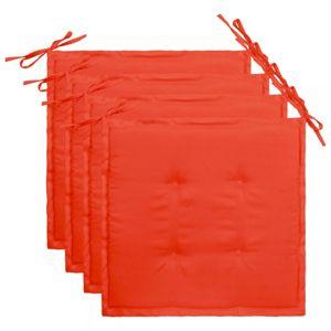 Podušky na zahradní židle 4 ks Dekorhome Červená