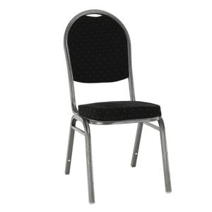 Stohovatelná židle JEFF 3 NEW Tempo Kondela Černá