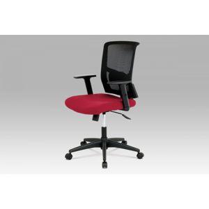 Kancelářská židle KA-B1012 BOR šedá + vínová Autronic