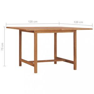 Zahradní stůl teakové dřevo Dekorhome 120x120x75 cm