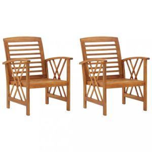Zahradní židle 2 ks hnědá Dekorhome