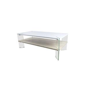 Konferenční stolek MABILO bílá/ vzor dřevo Tempo Kondela
