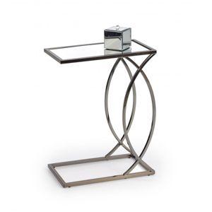 Odkládací stolek PARMA zrcadlo / nikl Halmar