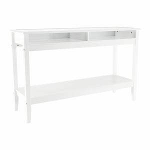 Konzolový stolek FARUS bílá / sklo Tempo Kondela