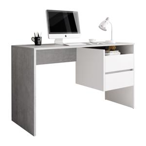 PC stůl se zásuvkami TULIO Tempo Kondela Bílá / beton