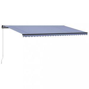 Ručně zatahovací markýza 600x300 cm Dekorhome Modrá