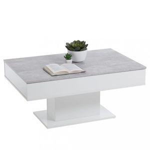 Konferenční stolek betonově šedá / bílá Dekorhome