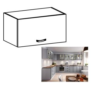 Horní skříňka LAYLA G50K bílá / šedá Tempo Kondela