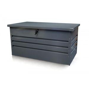 Zahradní úložný box 600l kovový Dekorhome