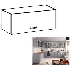 Horní skříňka LAYLA G80K bílá / šedá Tempo Kondela