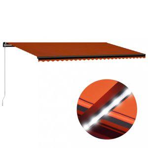 Ručně zatahovací markýza s LED světlem 600x300 cm Dekorhome Oranžová