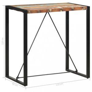 Barový stůl hnědá / černá Dekorhome 110x60x110 cm