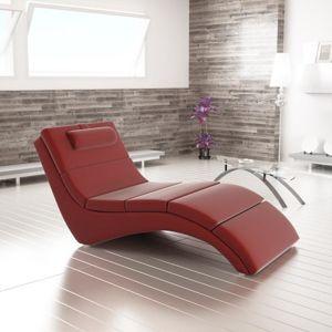 Relaxační křeslo LONG Tempo Kondela Červená