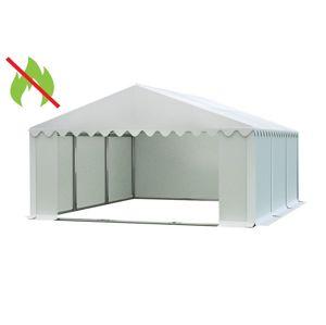Skladový stan 5x6m bílá PREMIUM - nehořlavý
