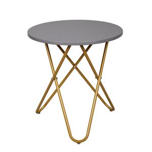 Odkládací stolek RONDEL šedá / zlatá Tempo Kondela