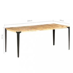 Jídelní stůl masivní dřevo / ocel Dekorhome 180x90x76 cm