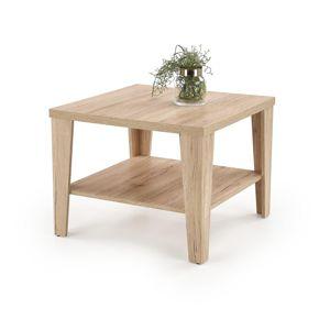 Konferenční stolek MANTA čtvercový Halmar Dub san remo