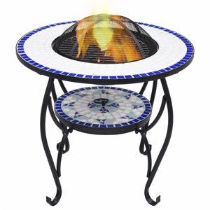 Mozaikový stolek s ohništěm Dekorhome Modrá