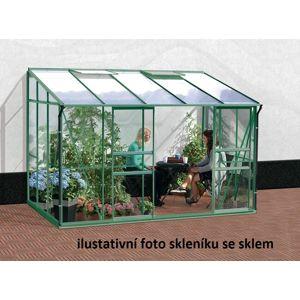 Skleník ke stěně VITAVIA IDA 6500 polykarbonát zelený Dekorhome Polykarbonát 4 mm