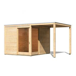 Dřevěný zahradní domek s přístavkem 502 x 304 cm Dekorhome Smrk