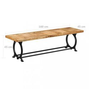 Jídelní lavice hnědá / černá Dekorhome 160 cm