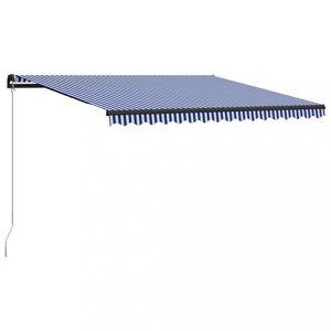 Ručně zatahovací markýza 400 x 300 cm Dekorhome Modrá