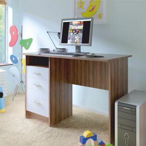 PC stůl, švestka bílá, SAMSON NEW 0000185327 Tempo Kondela