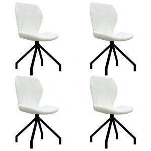 Jídelní židle 4 ks umělá kůže Dekorhome Bílá