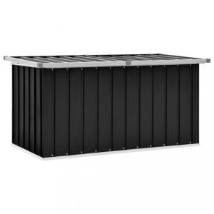 Zahradní úložný box 129x67x65 cm ocel Dekorhome Antracit