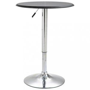 Barový stůl Ø 60 cm Dekorhome Černá