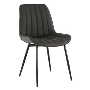 Jídelní židle HAZAL ekokůže / kov Tempo Kondela Tmavě šedá