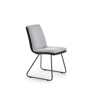 Jídelní židle K326 světle šedá / černá Halmar