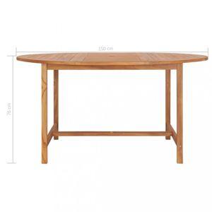 Zahradní stůl teakové dřevo Dekorhome 150x76 cm