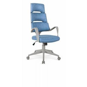 Kancelářské křeslo CALYPSO modrá / šedá Halmar