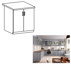 Spodní skříňka LAYLA D60 bílá / šedá Tempo Kondela