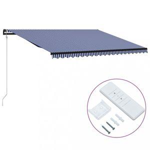 Automatická zatahovací markýza 500x300 cm Dekorhome Modrá