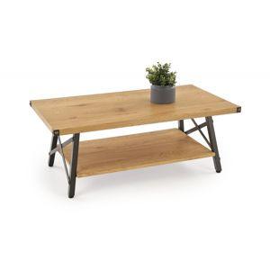 Konferenční stolek KATARINA dub zlatý / černá Halmar