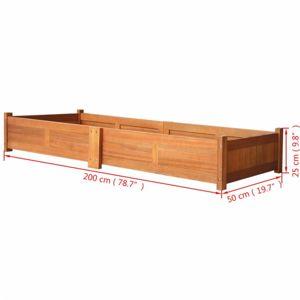 Zahradní truhlík akáciové dřevo Dekorhome 200x50x25 cm