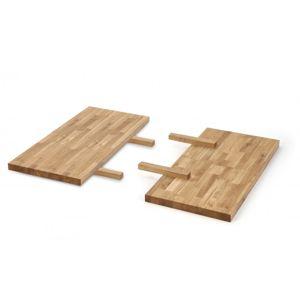 Stolní desky 2ks pro stoly APEX / RADUS masivní dřevo Halmar 40x78 cm
