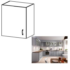 Horní skříňka LAYLA G601F bílá / šedá Tempo Kondela Levé